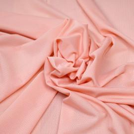 Tissu maillot de bain tropical peach tissé losanges  x 10cm