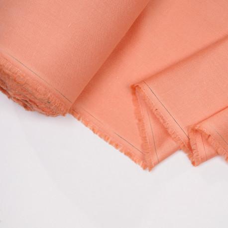 Tissu lin et viscose corail reef - pretty mercerie - mercerie en ligne