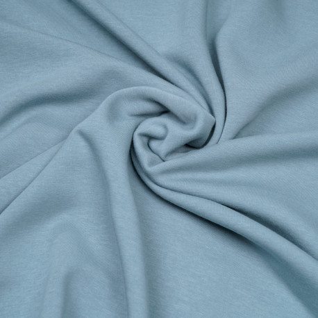 Tissu sweat gratté stone blue  - pretty mercerie - mercerie en ligne