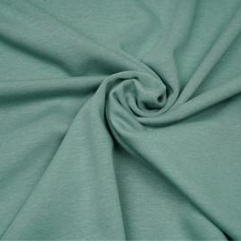 Tissu sweat gratté vert sauge x 10cm