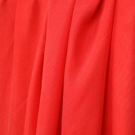 tissu cupro et coton rouge bittersweet - pretty mercerie - mercerie en ligne
