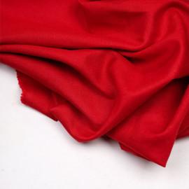 Tissu lin et viscose rouge bittersweet - pretty mercerie - mercerie en ligne