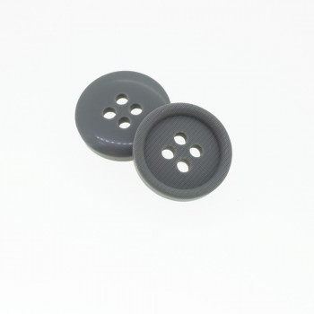 Bouton rond gris fer