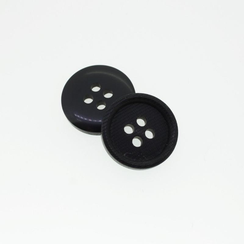 Bouton rond noir