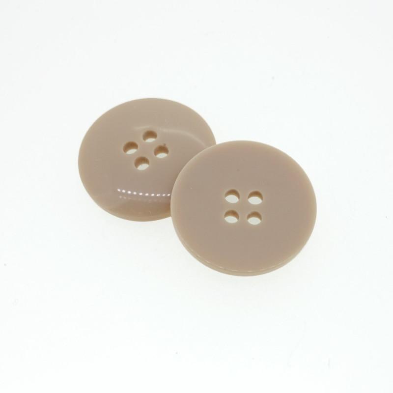 Beige round button