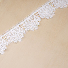 Ruban dentelle blanc cassé couronne - pretty mercerie - mercerie en ligne