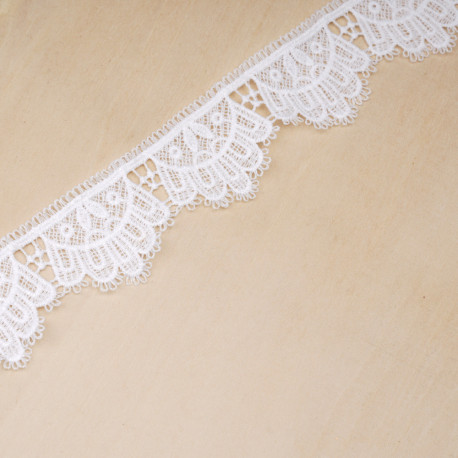 Ruban guipure blanc cassé couronne | pretty mercerie | mercerie en ligne