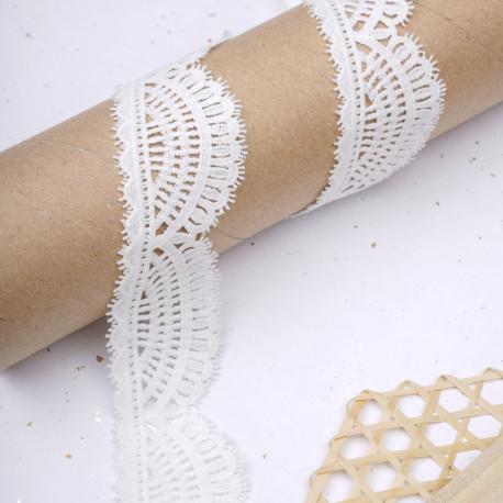 Ruban dentelle blanc cassé à motif éventail gatsby  - pretty mercerie - mercerie en ligne