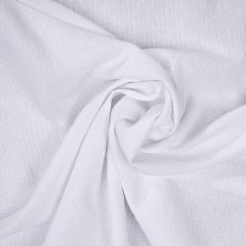 Tissu coton blanc gauffré x 10cm