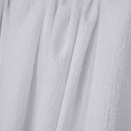 Tissu coton blanc gauffré  - pretty mercerie - mercerie en ligne