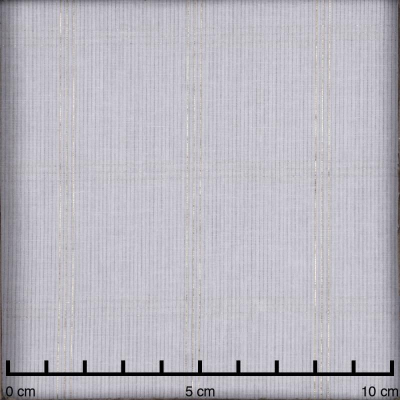 Tissu coton blanc à motif carreaux fil lurex or - pretty mercerie - mercerie en ligne