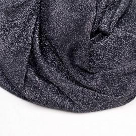 Tissu maillot de bain noir fil lurex argent  x 10cm