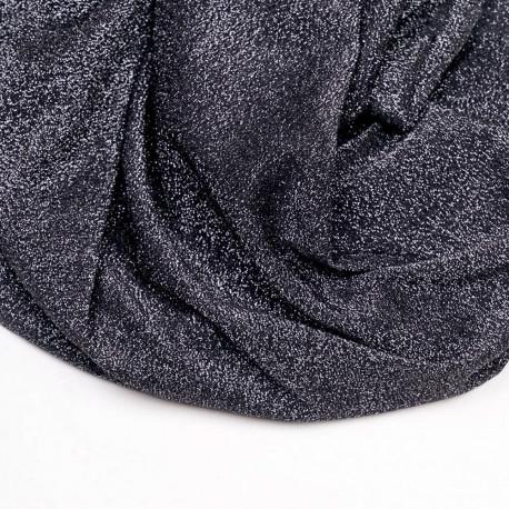 Tissu maillot de bain noir fil lurex argent - pretty mercerie - mercerie en ligne