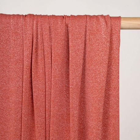 Tissu maillot de bain ginger spice fil lurex argent - pretty mercerie - mercerie en ligne