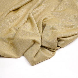 Tissu maillot de bain gold fil lurex argent  x 10cm