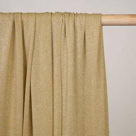 Tissu maillot de bain gold fil lurex argent - pretty mercerie - mercerie en ligne