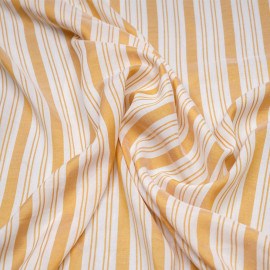 Tissu viscose rayé et tissé golden glow x 10 CM