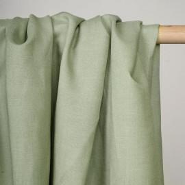 Tissu lin et viscose vert celadon - pretty mercerie - mercerie en ligne