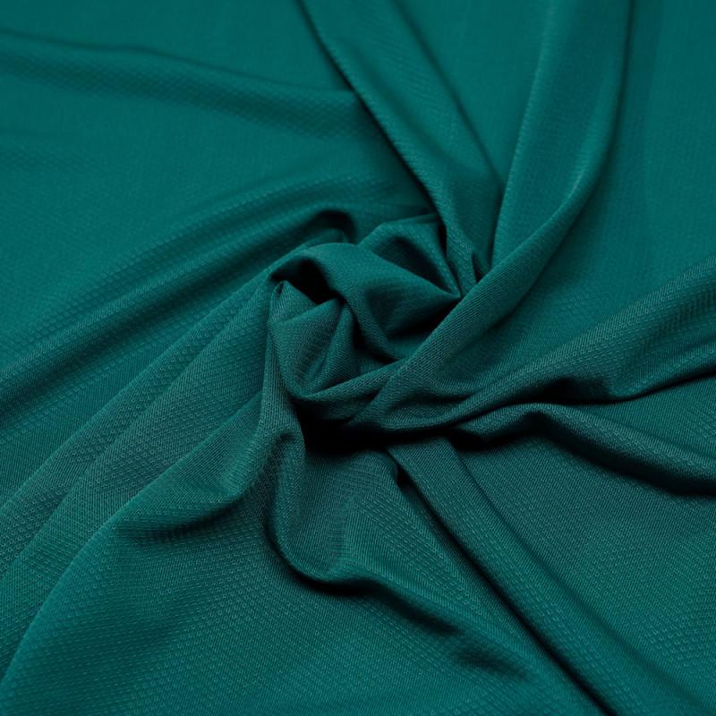 Tissu maillot de bain vert émeraude tissé losanges  - pretty mercerie - mercerie en ligne
