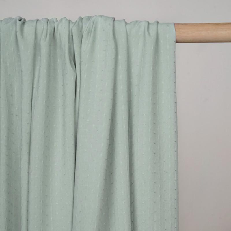 Tissu poly-coton vert sauge tissé - pretty mercerie - mercerie en ligne