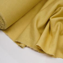 Tissu lin et viscose jaune bambou x 10CM
