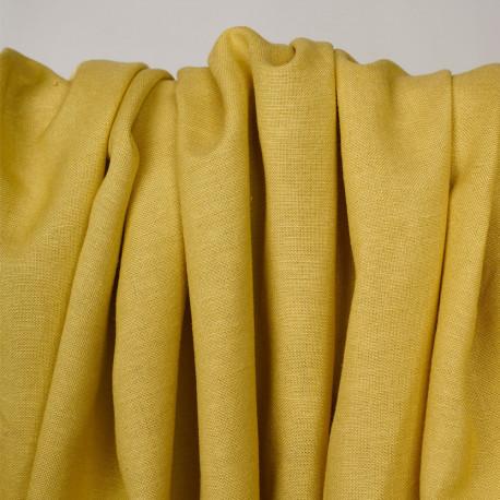 Tissu lin et viscose jaune bambou - pretty mercerie - mercerie en ligne