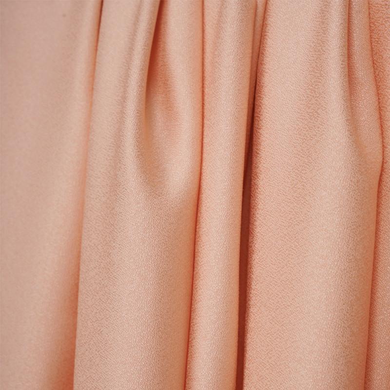 Tissu crêpe abricot ice - pretty mercerie - mercerie en ligne