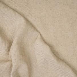 Tissu velours côtelé coton et lin beige x 10 cm