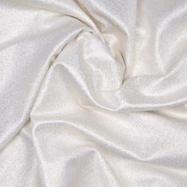 Tissu maillot de bain blanc cassé à paillettes or x 10cm