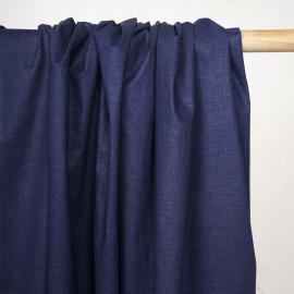Tissu lin, tencel et viscose bleu estate - pretty mercerie - mercerie en ligne