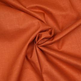 Tissu lin, tencel et viscose orange mecque x 10CM