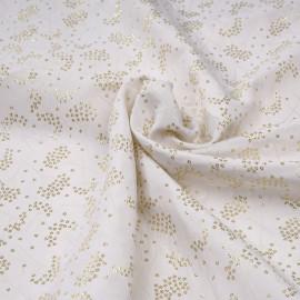 Tissu jacquard crème tissé dandelion or x 10 CM