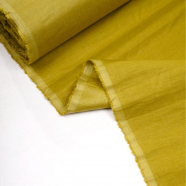 Tissu lin, tencel et viscose antique moss x 10CM