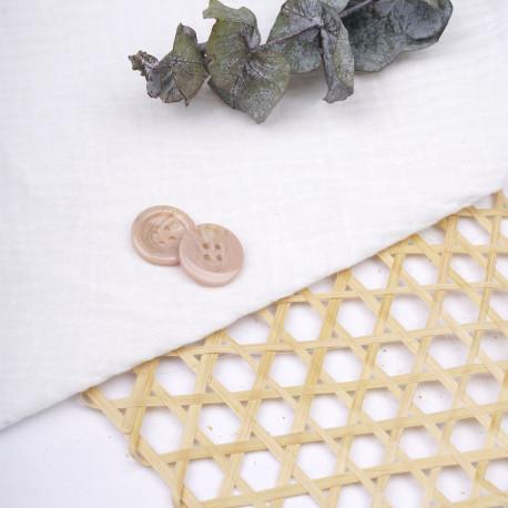 Bouton beige rosé effet écaille de tortue 20 mm - pretty mercerie - mercerie en ligne