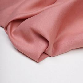 Tissu lin et viscose rose terra-cotta - pretty mercerie - mercerie en ligne