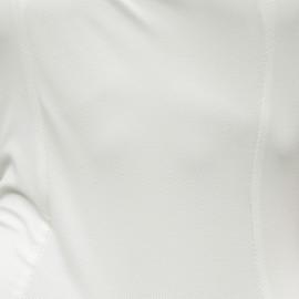 Tissu maillot de bain nid d'abeille blanc cassé x 10cm