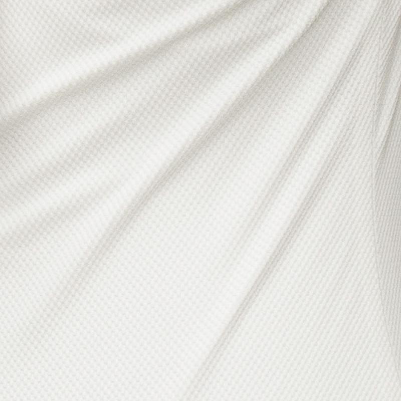 Tissu maillot de bain nid d'abeille blanc cassé - pretty mercerie - mercerie en ligne