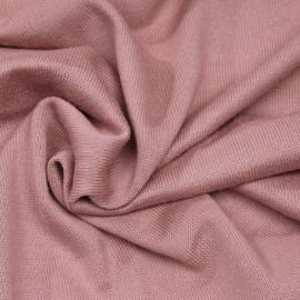 Tissu coton maille point de jersey vieux rose x 10 CM