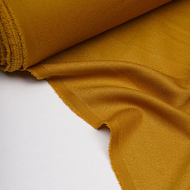 Tissu crêpe amber gold x 10 cm
