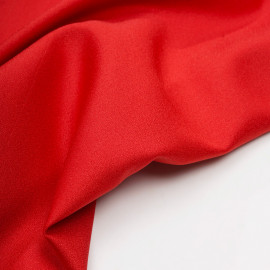 Tissu crêpe rouge  x 10 cm