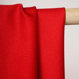 Tissu crêpe rouge - Pretty Mercerie - mercerie en ligne