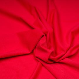Tissu maillot de bain effet nid d'abeilles rouge x 10cm