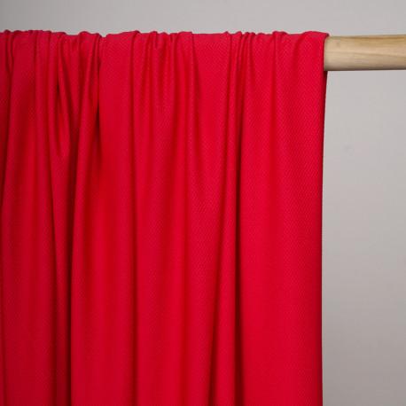 Tissu maillot de bain effet nid d'abeilles rouge - Pretty Mercerie - mercerie en ligne