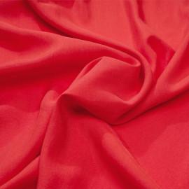Tissu tencel sergé rouge bittersweet x 10cm