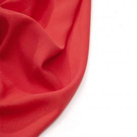 Tissu tencel sergé rouge bittersweet - Pretty Mercerie - mercerie en ligne