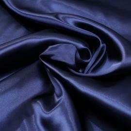 Doublure satin polyester bleu éclipse x 10cm