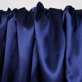 Doublure satin polyester bleu éclipse x 10cm - pretty mercerie - mercerie en ligne