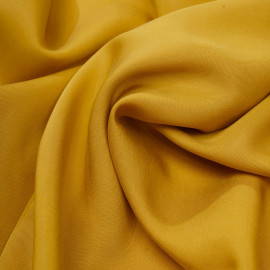 Tissu tencel sergé lemon curry x 10cm