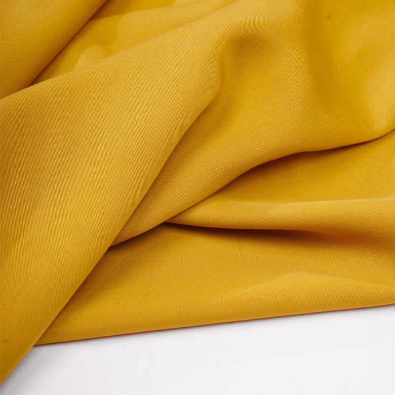 Tissu tencel sergé lemon curry - pretty mercerie - mercerie en ligne