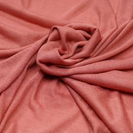 Tissu jersey viscose vieux rose x 10cm